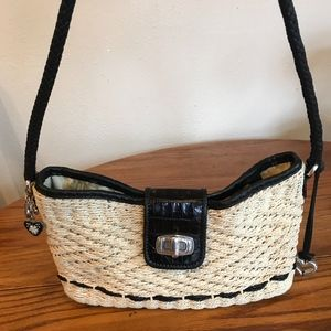 Brighton Woven Purse with Leather Trim